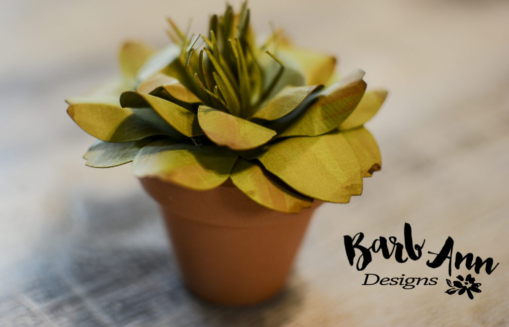 paper succulent in little pot wm | Barb Ann Designs |