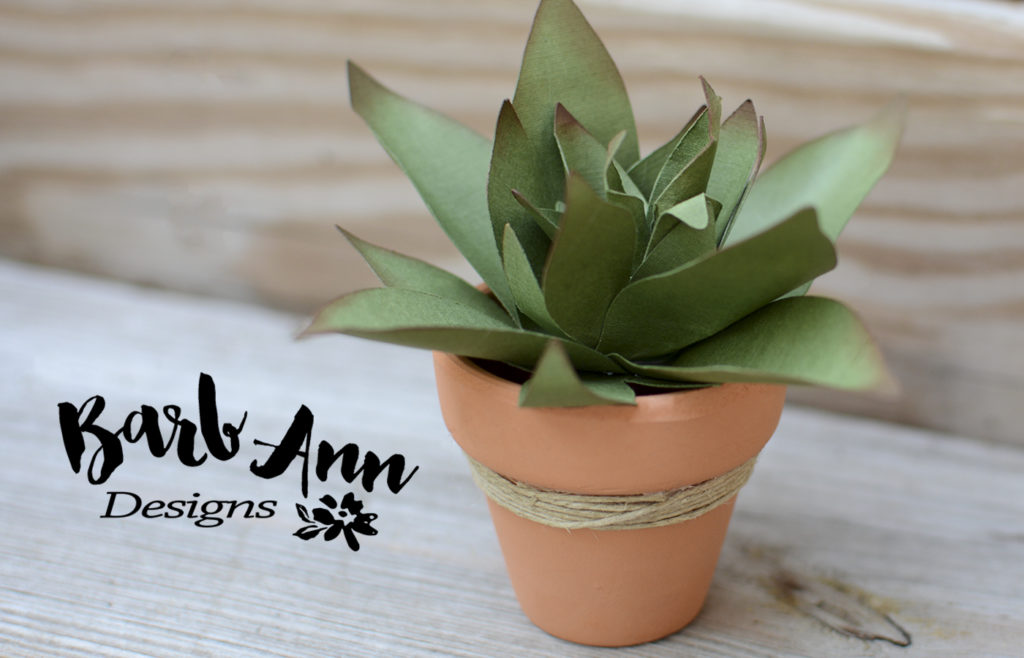spiked paper succulent wm | Barb Ann Designs |