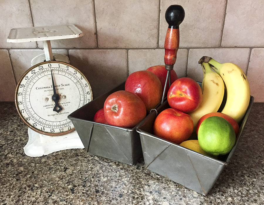 bread pan organizer with fruit | Barb Ann Designs |