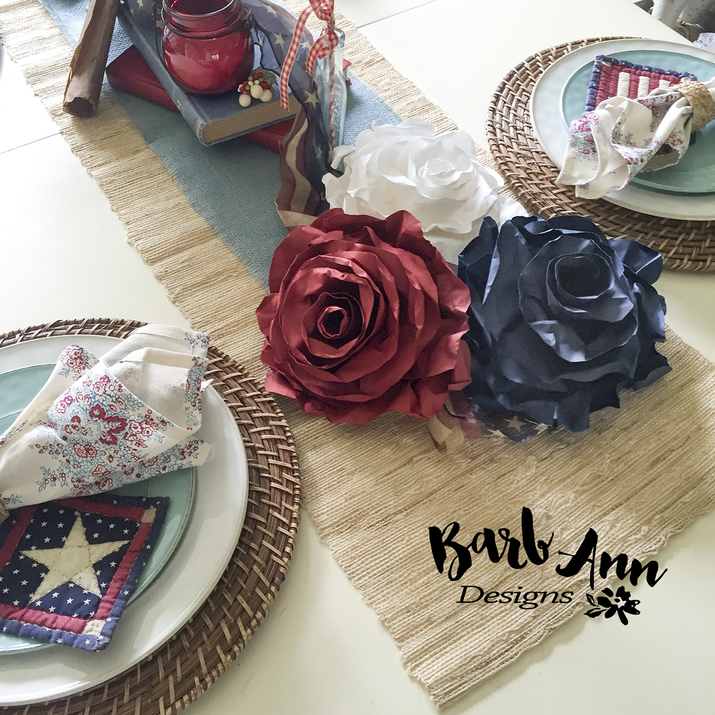 The Red, White and Blue of Summer Decor
