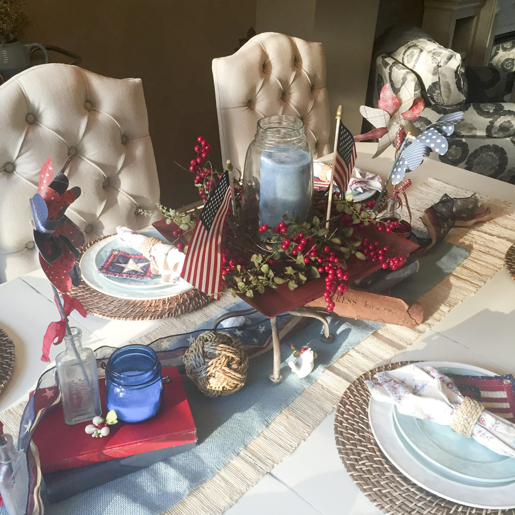 patriotic tablescape | Barb Ann Designs |