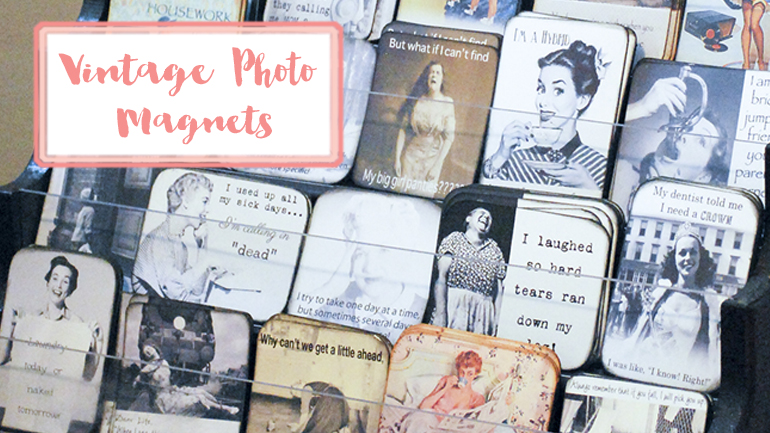 Vintage photo magnets | Barb Ann Designs |