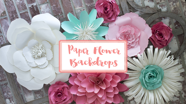 paper flower backdrops | Barb Ann Designs |