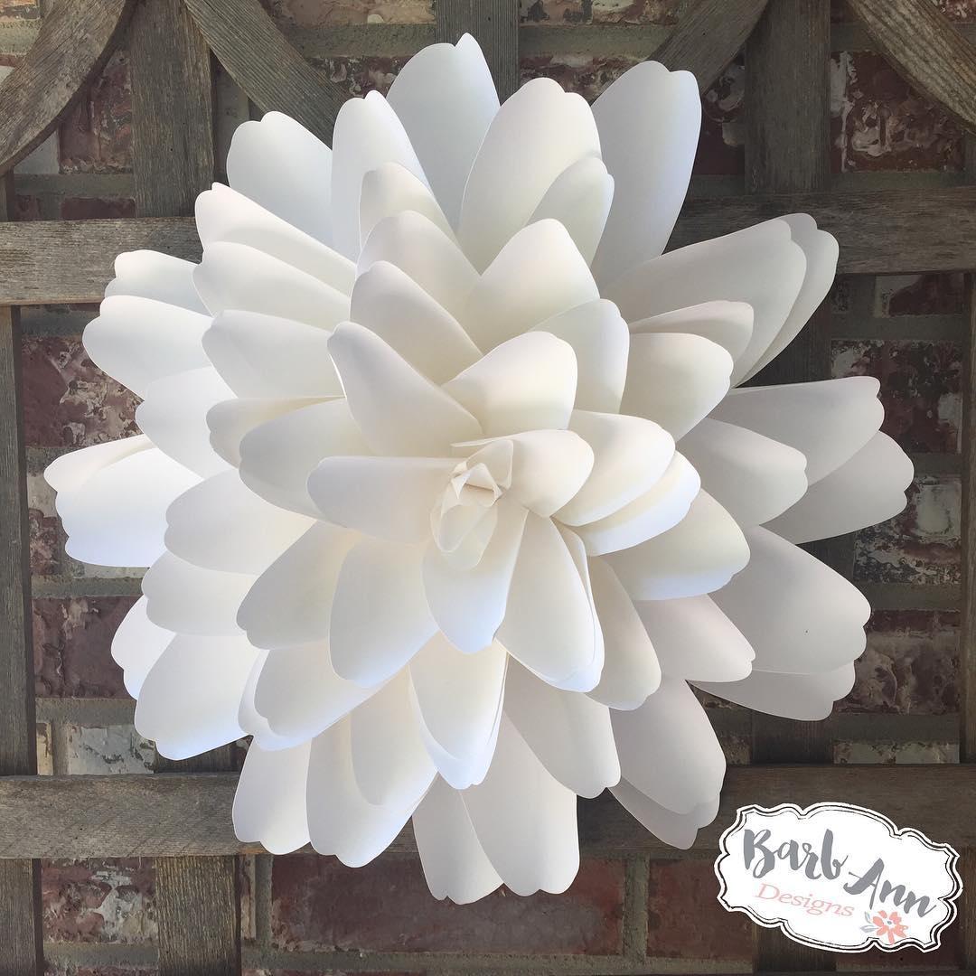 Dahlia Paper Flower Video Tutorial Barb Ann Designs