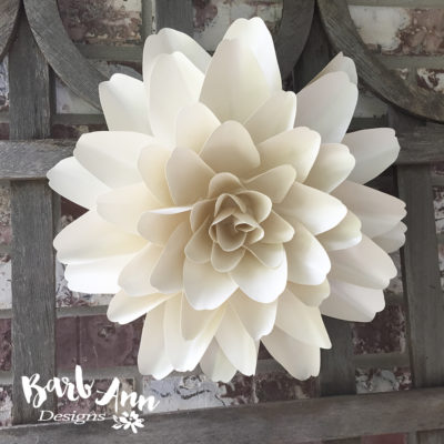 White and cream large paper flower backdrop barb ann designs white and cream large paper flower backdrop mightylinksfo