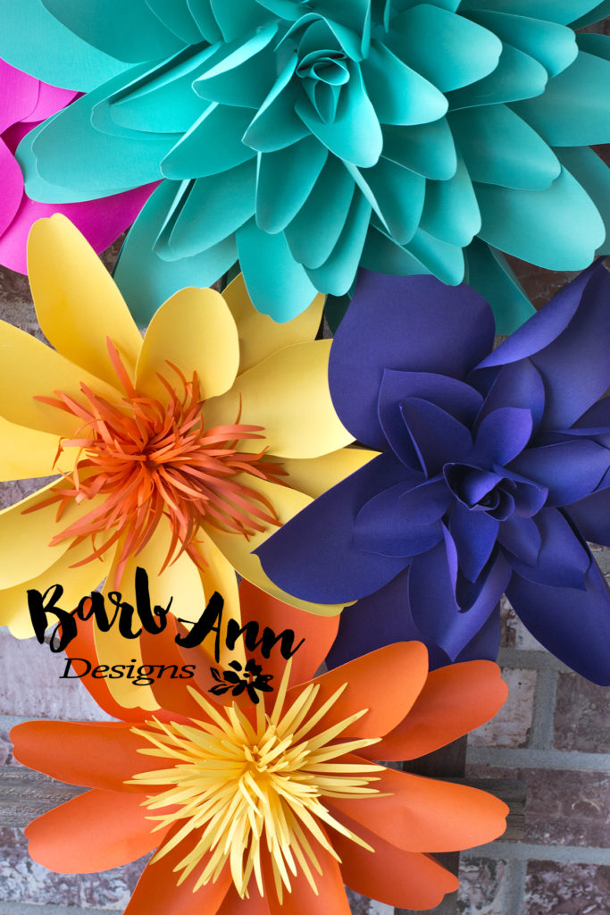 Paper flowers archives barb ann designs bright paper flowers mightylinksfo