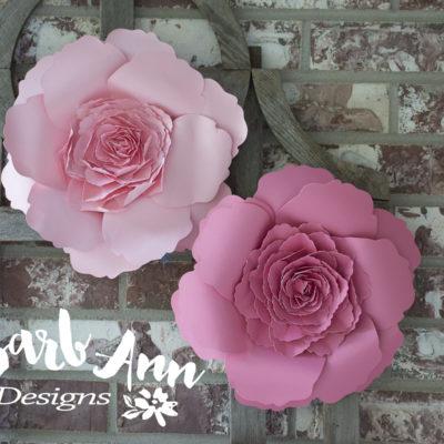 Pink paper flower set barb ann designs pink paper flower set mightylinksfo