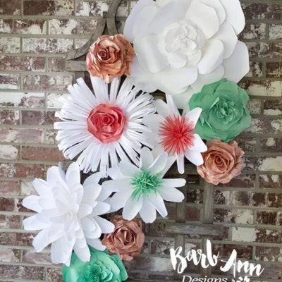 Sea foam green coral paper flower set copy barb ann designs sea foam green coral paper flower set copy mightylinksfo