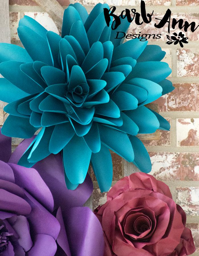 a55d70d20a0d paper flowers dark tones
