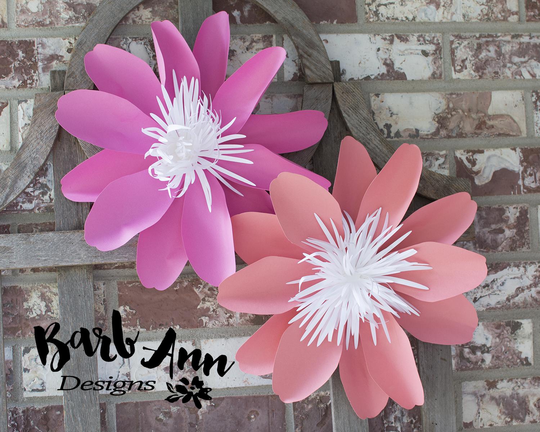 Navy Pink Amp Coral Paper Flower Set Barb Ann Designs